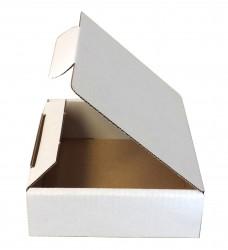 Faltschachtel 98x98x35 mm, weiß, Seitenansicht