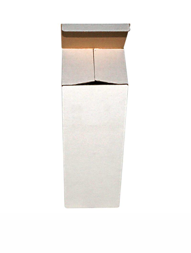 Flaschenverpackung, einwellig, weiß, Vorderansicht