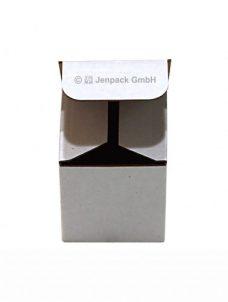 Steckbodenschachtel 50x50x57mm, weiss, einwellig