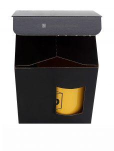 Tassenverpackung 110x110x130mmschwarz matt, mit Sichtfenster