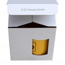 Tassenverpackung 110x110x130 mm weiss, Vorderansicht