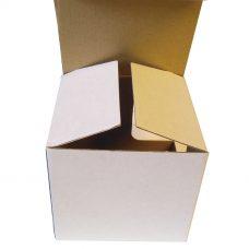 Tassenverpackung ohne Sichtfenster, weiß, einwellig