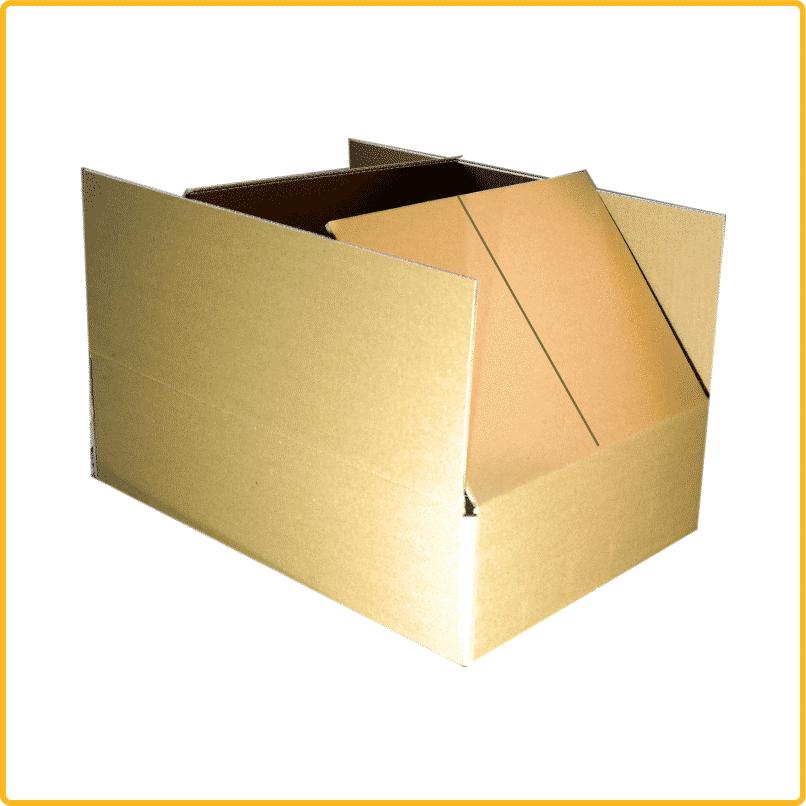 420x280x105 mm Karton Vorderansicht mit Schlitz