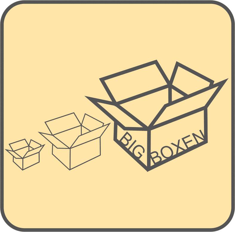 Big Boxen - große Kartons