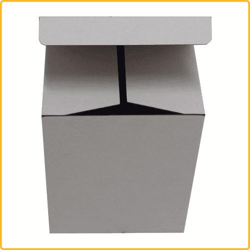 142x110x182 Klappdeckelschachtel weiß ohne Sichtfenster
