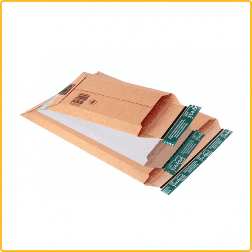 187x272x50 Versandtasche premium aus wellpappe mit Selbstklebeverschluss und aufreissfaden braun