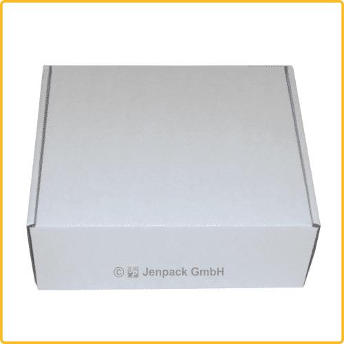 200x170x80 Klappdeckelschachtel weiß geschlossene Ansicht