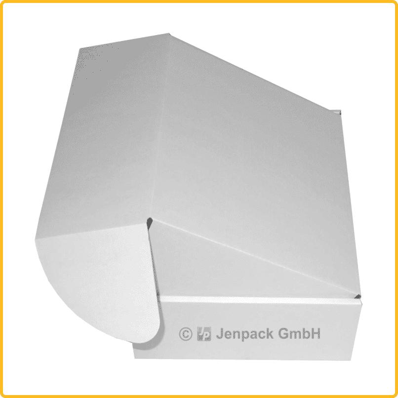 200x170x80 Klappdeckelschachtel weiß seitenansicht