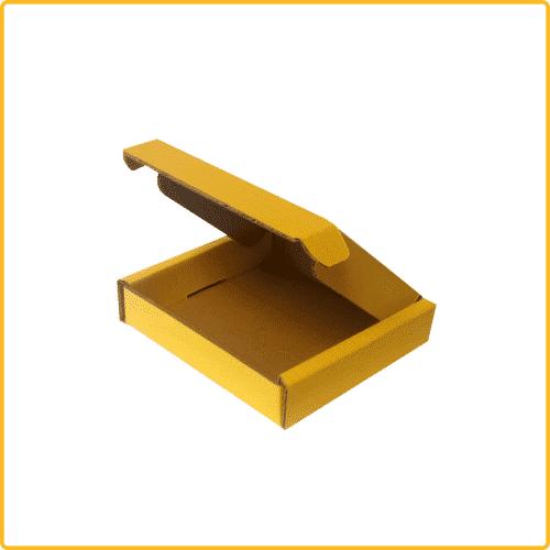 200x200x43 Klappdeckelschachtel gelb