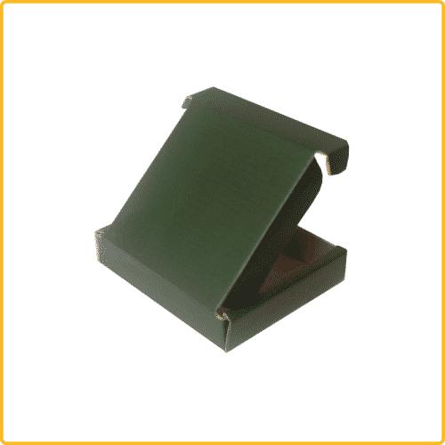 200x200x43 Klappdeckelschachtel grün