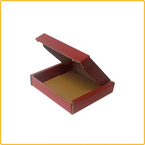 200x200x43 Klappdeckelschachtel rot