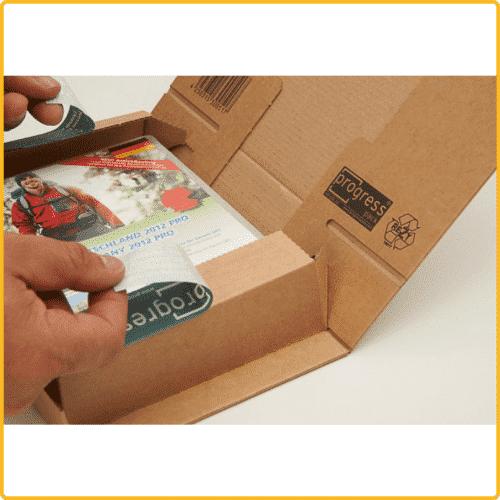 215x155x43 Postbox secure maxibrief karton braun selbstklebeverschluss