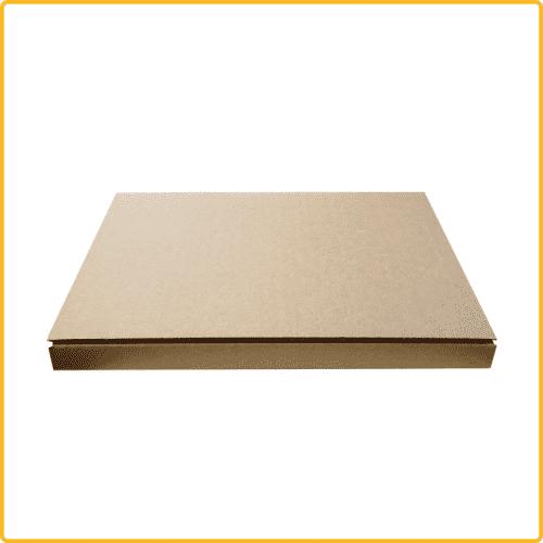 220x160x10 Karton Kalender Buch braun geschlossen