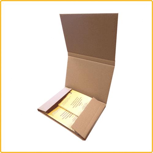 220x160x10 Karton Kalender Buch braun offen