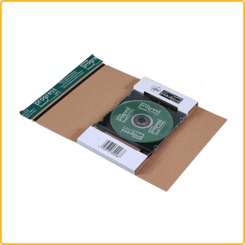 225x125x12 CD Mailer Jewelcase weiss mit Selbstklebeverschluss und aufreissfaden