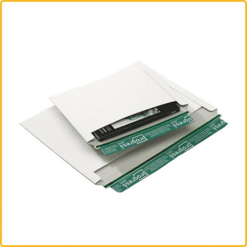 246x172 Versandtasche quer premium mit Selbstklebeverschluss und aufreissfaden weiss