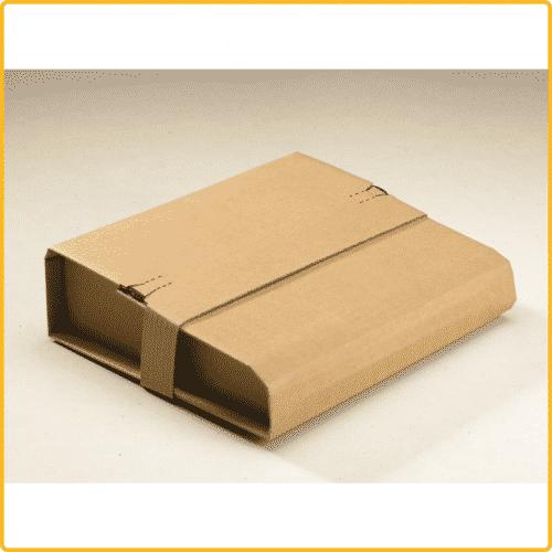 300x220x95 Universal versand verpackung aus wellpappe braun mit schutzlasche