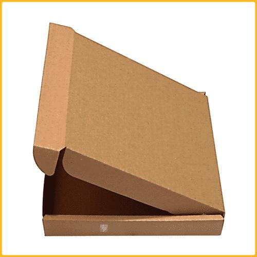 350x255x65 Klappdeckelkarton braun Seitenansicht