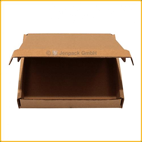350x255x65 Klappdeckelkarton braun Vorderansicht