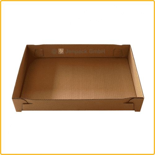 396x264x60 tray ablageschale braun
