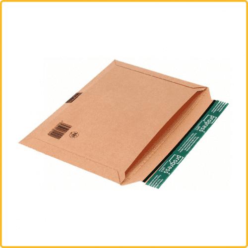 400x285x30 Versandtasche eco quer mit Selbstklebeverschluss und aufreissfaden quer braun