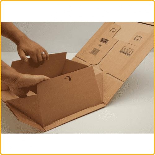 460x310x160 postbox secure premium braun aufrichten