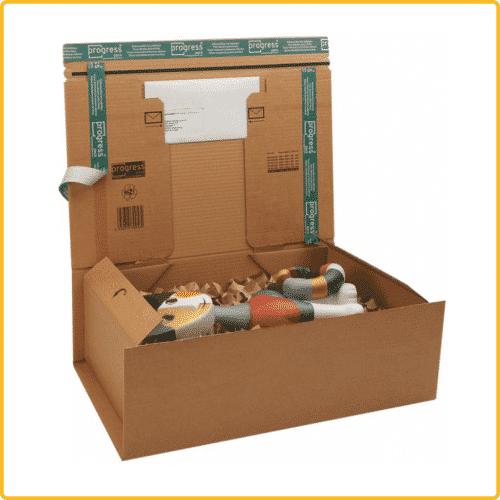 460x310x160 postbox secure premium braun mit selbstklebeverschluss aufreissfaden
