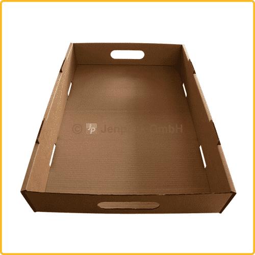 650x430x100 tray ablageschale mit griff braun ansicht2