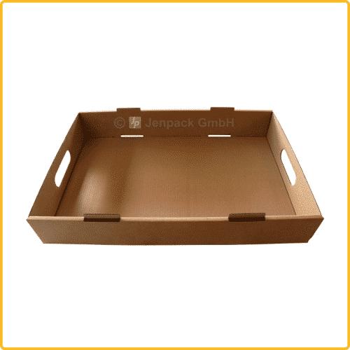 650x430x100 tray ablageschale mit griff braun