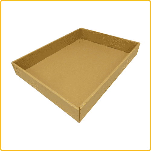 710x520x100 tray ablageschale braun
