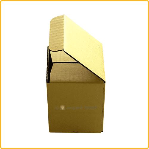 85x85x107 Tassenkarton gelb Seitenansicht