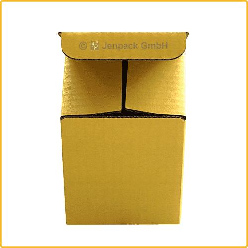 85x85x107 Tassenkarton gelb Vorderansicht