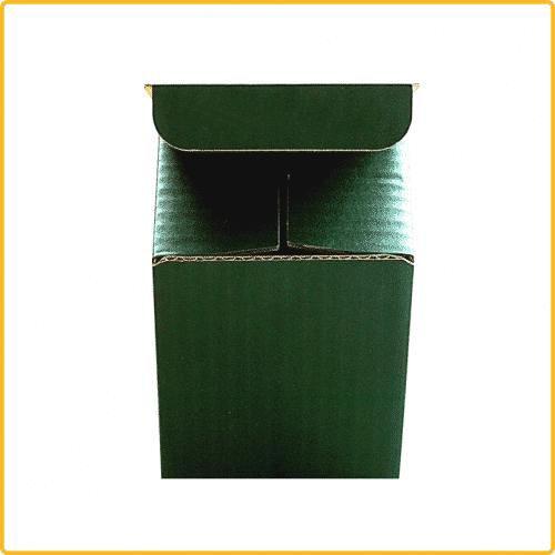 85x85x107 Tassenkarton grün Vorderansicht