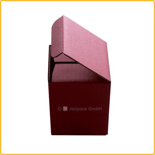85x85x107 Tassenkarton rot Seitenansicht