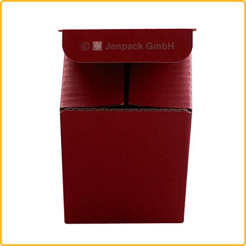 85x85x107 Tassenkarton rot Vorderansicht