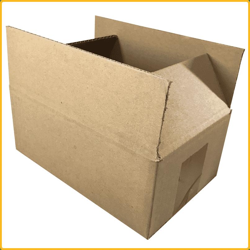 1 Stück Faltkarton 750x500x580mm BC 2-wellig Versandkartons Faltschachteln braun