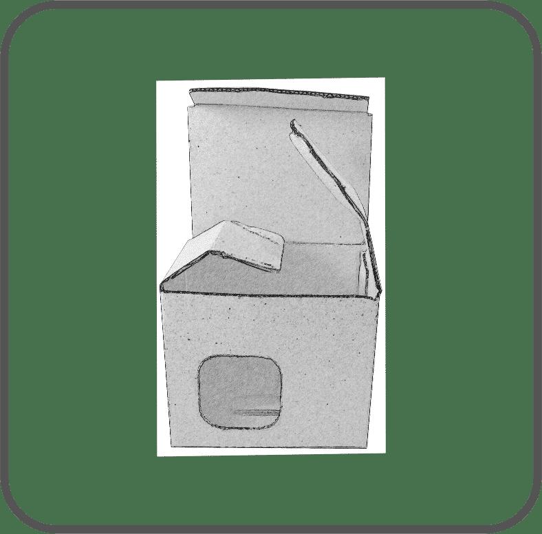Tassenkartons mit Sichtfenster