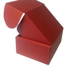 Versandkarton rot, einwellig