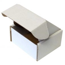 Karton 60x60x35 mm, weiß, Seitenansicht