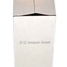 Faltschachtel, einwellig, 80x80x228mm oder 55x55x150mm, weiß, Vorderansicht, Flaschenverpackung