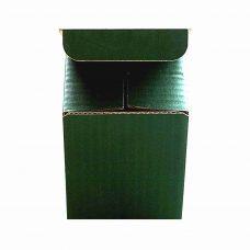 Tassenverpackung in grün, Vorderansicht