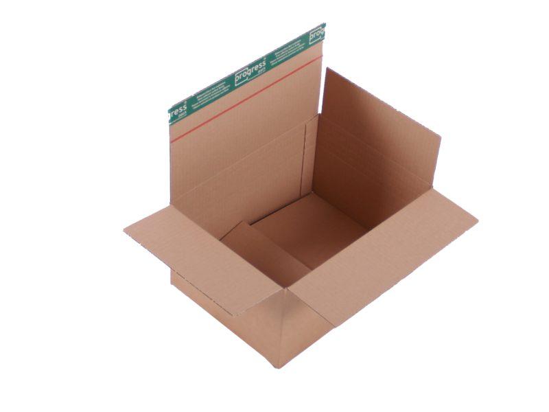 System-Versand-Transportkarton mit Selbstklebeverschluss, Darstellung des aufgebauten Karton
