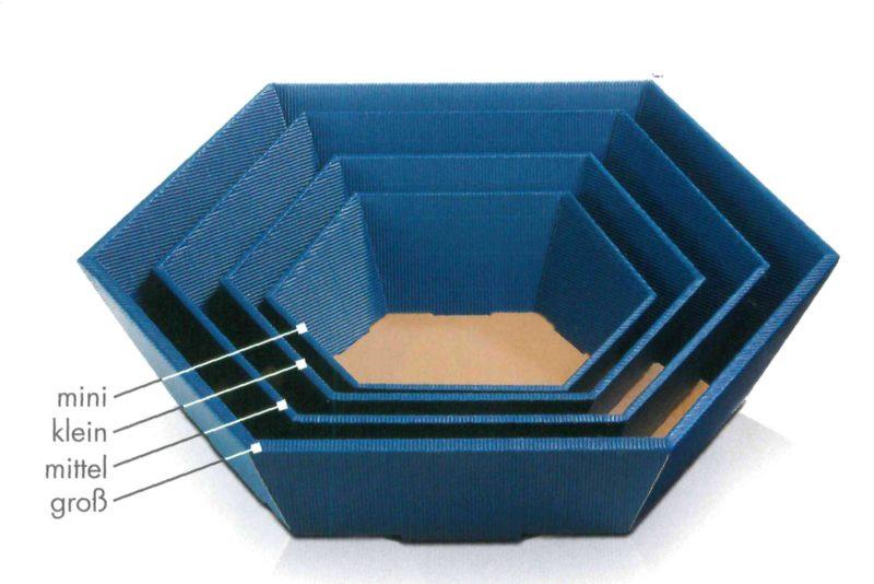 Geschenkkorb in verschiedenen Größen, Wellpappe außen