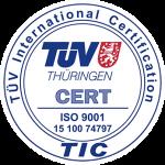 TÜV ISO 9001 15 100 74797
