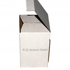 Faltschachtel, einwellig, 80x80x128mm, weiß, Seitenansicht