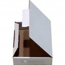 Faltschachtel, Karton 96x60x30 mm, weiß, Seitenansicht