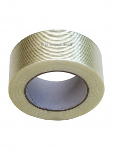 Filamentband, Klebeband, transparent, Seitenansicht