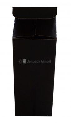 Flaschenverpackung, 76x76x200mm, schwarz, Vorderansicht