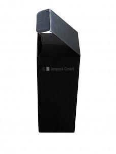 Flaschenverpackung, 76x76x200mm, schwarz, Seitenansicht
