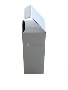 Flaschenverpackung, 76x76x200mm, weiß, Seitenansicht